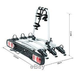 HOMCOM Bicycle Carrier Rear-mounted Bike Rack Rear Tow Bar Carrier Outdoor
