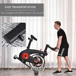 HOMCOM Exercise Bike Indoor Cycling Adjustable Resistance LCD Display
