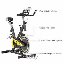 HOMCOM Exercise Bike Indoor Cycling with Adjustable Resistance LCD Display