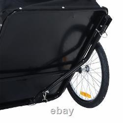 HOMCOM Folding Bicycle Cargo Trailer Shop Luggage Storage Utility Hitch Cover