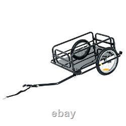 HOMCOM Folding Bike Trailer Cargo B icycle Storage Carrier with Hitch