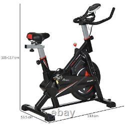 HOMCOM Indoor Cycling Bike Upright Stationary Exercise Bike Cardio Workout