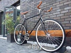 Hackney Club Vintage Single Speed freewheels bike Fixed Gear / fixie Road Bike