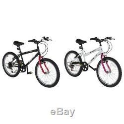 Huffy 20 Inch Rigid Bike Black/White Boys/Girls