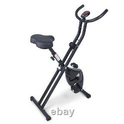 Indoor Folding Trainer Home Gym Exercise Bike/LCD Cycle Bicycle Fitness Workout