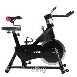 JLL IC260 Indoor Cycling Exercise Bike, 2020 Black Edition, 15kg Flywheel