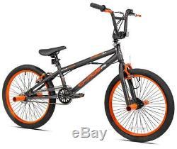 Kent Chaos Freestyle 20 Kids BMX Bike Single Speed GYRO Brakes Stunt Pegs -Grey
