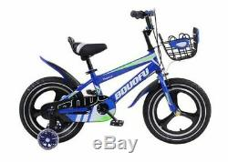 Kidisa Children's Boys Blue Bike Bicycle With Removable Stabilisers 14 Inch Uk