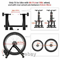 Magnetic Turbo Trainer Indoor Bike Trainer Stand for Road/Mountain Bicycle Black