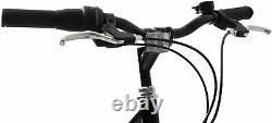 Mens Hybrid Bike Avenue 700c Wheel 21 Frame Touring Bike 6 Speed Black Red
