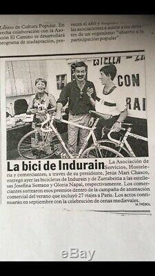 Miguel Indurain Pinarello Banesto original Tour bicycle 1994 Campagnolo Record