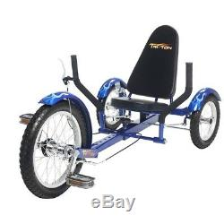 Mobo TriTon 16 3 WHEEL Trike Tricycle RECUMBENT Bike Red (Youth)