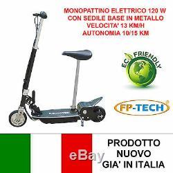 Monopattino Elettrico Con Sedile 24 V 120w Base Metallica E-scooter Elettrico
