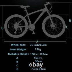 Mountain Bike/Bicycle NEW SPEED Men/Women 24Speed MTB Frames Full Suspension