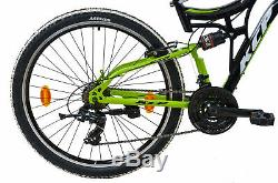 Mountainbike 26 Zoll MTB Jugendrad KCP FAIRBANKS 21G SHIMANO Vollfederung SW-GR