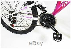 Muddyfox Phoenix 24 Inch Dual Suspension Bike Girls Pink