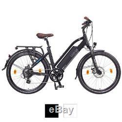 NCM Milano 26 28 Trekking E-Bike, 48V 13Ah 624Wh, weiß, schwarz