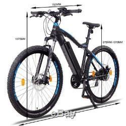 NCM Moscow 48V 27,5 E-MTB Mountainbike E-Bike 13Ah 624Wh Akku, schwarz blau
