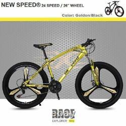 NEW SPEED Mountain Bike Men/Women 24Speed MTB Frames Full Suspension