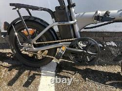 Nakto Folding E-Bike City Folder 36V 10ah Electric Bike 16 Bicycle Silver new