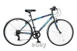 Natural Energy Mens Trekking Hybrid Rigid Bicycle Bike 700c Wheel 6 Speed Grey