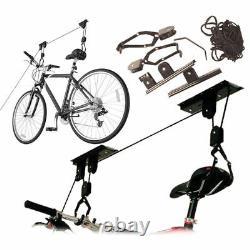 New 20KG Bicycle Bike Ceiling Hanger Lift Pulley Hoist Garage Rack Storage Stand