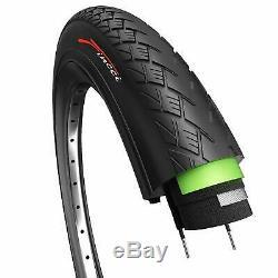 Pair of Fincci Hybrid Bike Bicycle Antipuncture Tyres Tires 700 X 35C