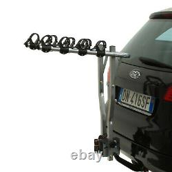 Peruzzo Arezzo Tilting Towbar Carrier 4 Bike Cycle Rack Folding Car Tow Bar