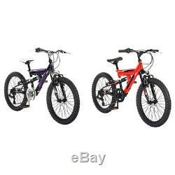 Piranha 20 Inch Atom Junior Dual Suspension Bike Black/Red