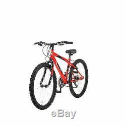 Piranha 24 Inch Wheel 13 Inch Frame 18 Speed Blaze Rigid Junior Kids Bike