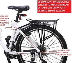 RDK Bike/Cycling Rear Disc Brake Pannier Bag Rack Black
