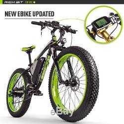 RICHBIT electric Fat bike 48v 1000w 26 EBike PAS+ Throttle 17AH Li- Battery