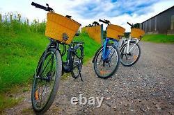 Roadhog E Bike Electric Bike Unisex WHITE Basket & Panier, 25KPH 250W