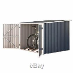 SVITA Fahrradgarage Bicycle Fahrradhaus Fahrradbox Bike box 5,6m³ Metall grau