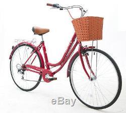 Sales Spring 700C Women Ladies Girls City Dutch Shopper Bicycle Bikes 6 sps warr