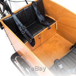 Speedy E 3 Rad Lastenfahrrad mit schönen naturel Holzkiste