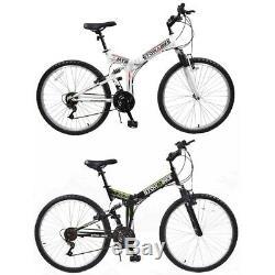 Stowabike 26 MTB V2 Folding Dual Suspension 18sp Gears Mountain Bike