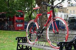 TEMAN Brand New Hybrid / Racing Road Bike Bicycles- Shimano 21 Speed -RED