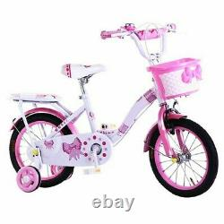 Tynee Children's Girls Pink Bike Bicycle With Removable Stabilisers 14 Inch Uk
