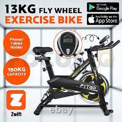 UK BLUETOOTH Sports Exercise Bike Cycle Indoor Training 13KG Spinning Flywheel