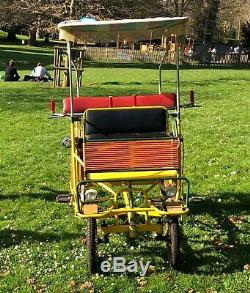 Vintage Original Italian Brevetti Mecart 1960's 1970's Surrey / Tandem Bike