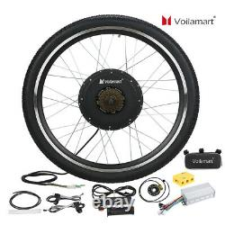 Voilamart 1500W 48V Electric Bicycle Conversion Kit EBike Rear Wheel 26 Cycling