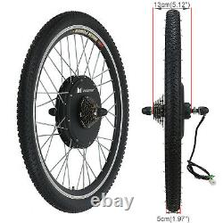 Voliamart 281000W Rear Electric Bicycle Conversion Kit Bike Wheel With LCD Meter