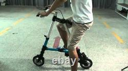 Worlds Smallest Lightest Mini 8in Ultra Light Portable Folding Pedal Bicycle NEW