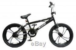 XN-4-20 BMX Bike Mens Boys Freestyle BMX 20 MAG Wheel Gyro Black White Adult