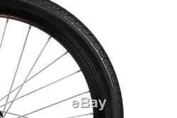 Xspec 20 7 Speed City Folding Mini Compact Bike Bicycle Commuter, Black